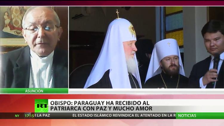 """Obispo: """"Paraguay ha recibido al patriarca Kiril con paz y mucho amor"""""""