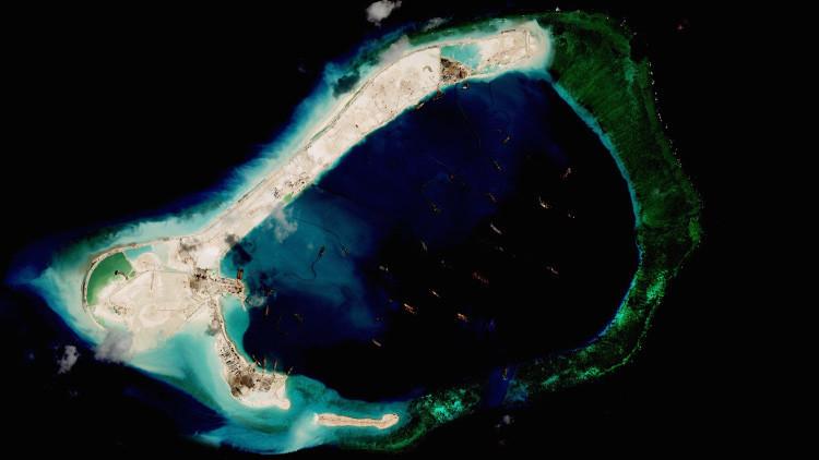 Imágenes satelitales muestran la solidez de las construcciones chinas en el archipiélago en disputa