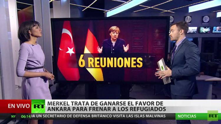 Merkel trata de ganarse el favor de Ankara para frenar a los refugiados