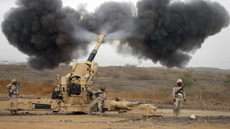 Artillería saudita en Yemen