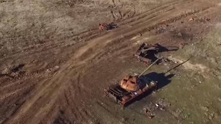 Uno de los campos de batalla más sangrientos de Ucrania, a vista de dron (VIDEO)
