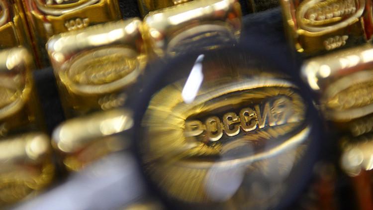 Lingotes de oro, parte de las reservas de Rusia