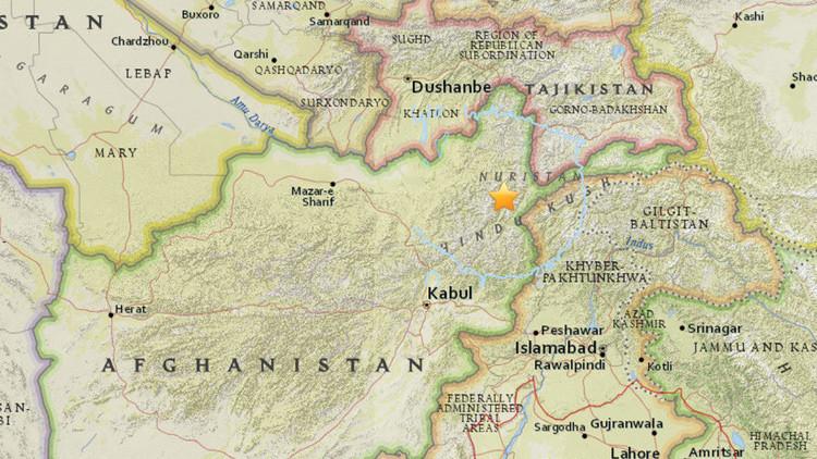 Un sismo de magnitud 5,5 sacude el norte de Afganistán