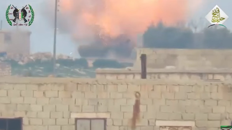 Video: Rebeldes sirios atacan por primera vez un tanque T-90 con un misil antitanque guiado