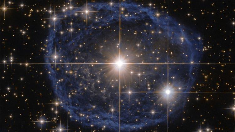 Captan una enorme 'burbuja azul' en el espacio