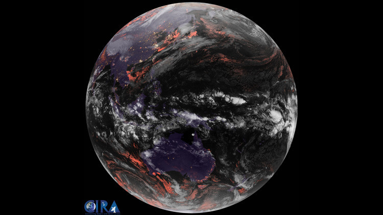 Animación: Las imágenes de un satélite meteorológico permiten ofrecer una visión única de la Tierra