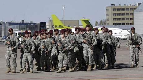 Un contingente del Ejército estadounidense en Letonia