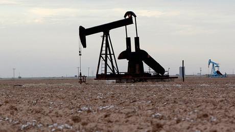 Pozo petrolero en Midland, Texas (EE.UU.)