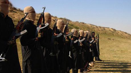 Una de las imágenes tomadas por los yihadistas del EI en su campo de entrenamiento en Egipto