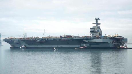 El portaaviones estadounidense USS Gerald Ford