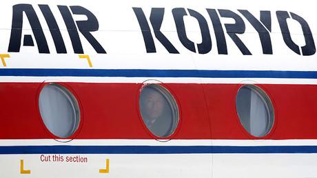 Un avión de Air Koryo en el aeropuerto internacional de Pudong, Shanghái (China)