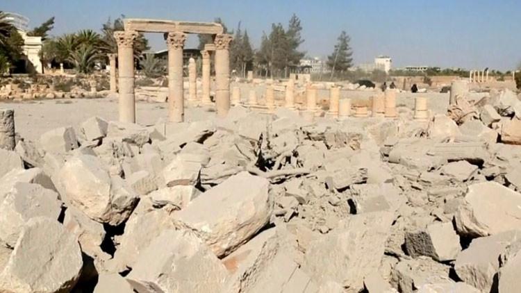"""""""Escombros y tristeza insondable"""": la destrucción de Palmira, grabada con una cámara oculta (video)"""