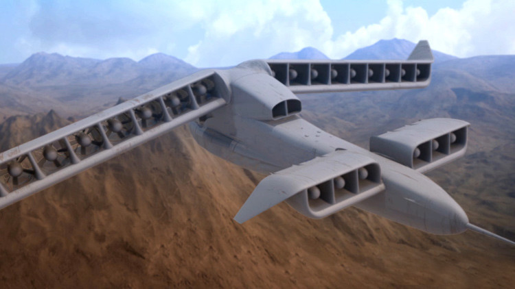 Contrario a las reglas: así es el primer concepto de avión de despegue vertical (Video)