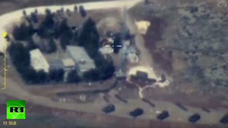 Ministerio de Defensa ruso publica un video de un bombardeo en territorio sirio por parte de Turquía