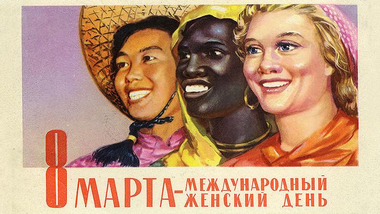 Felicitaciones desde la URSS: Así eran las postales soviéticas del Día Internacional de la Mujer