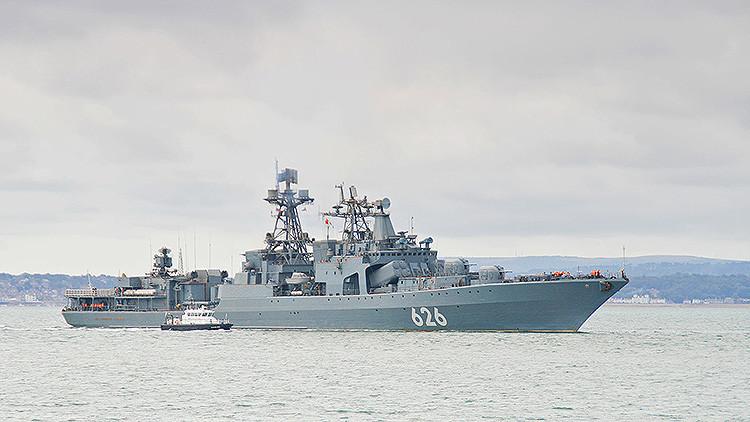 Buques de guerra rusos se ejercitan en el Mediterráneo para repeler ataques de submarinos