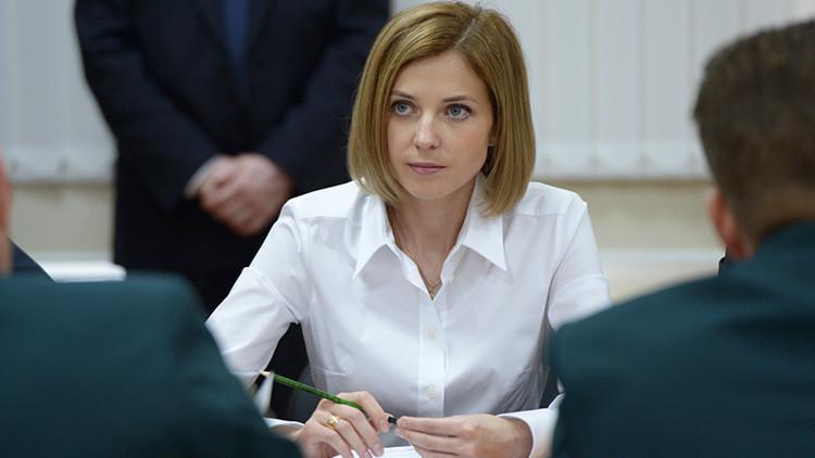 Poklonskaya explica qué destino les espera a quienes vayan a Crimea en son de guerra
