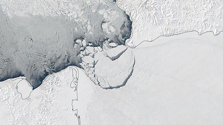 Fotos: Un bloque de hielo del tamaño de Mónaco se desprende en el Ártico