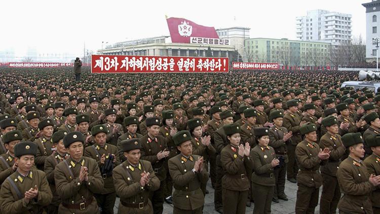Un desfile militar en Piongyang