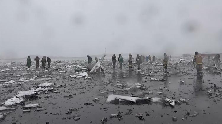 Las primeras imágenes del lugar del accidente del vuelo FZ981