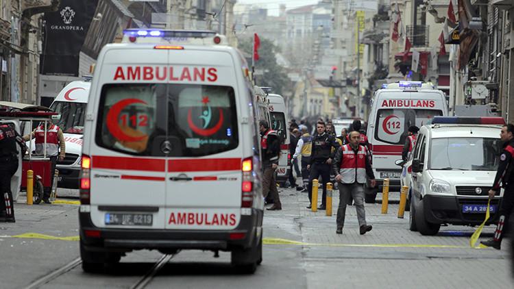 El momento exacto de la explosión en Estambul (Video)