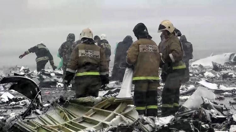 Nuevo video: cómo quedó el lugar del siniestro del avión en Rusia