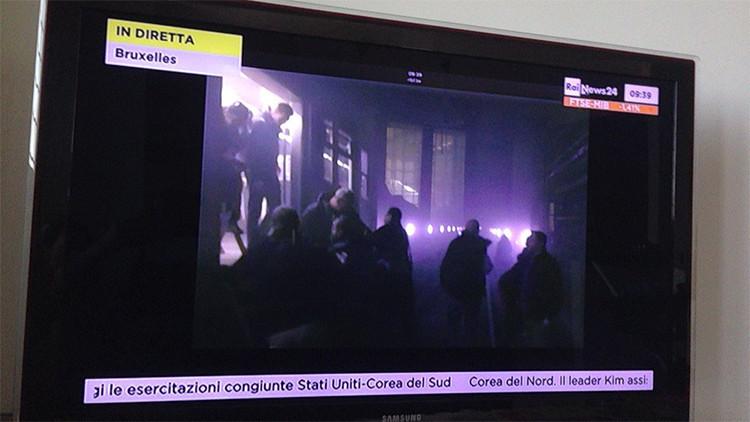 Reportan una serie de explosiones en el metro de la capital belga