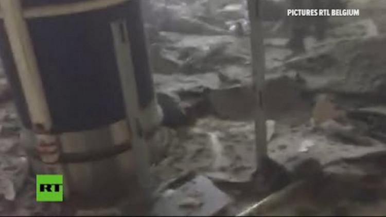 Imágenes espeluznantes: los primeros momentos tras el atentado en el aeropuerto de Bruselas (videos)