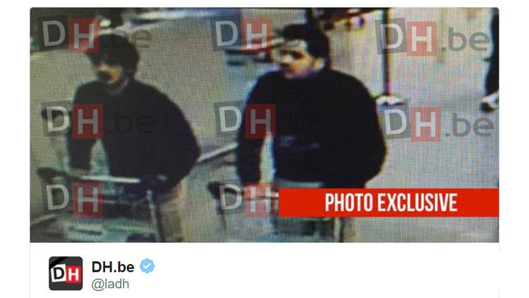 Publican la primera imagen de los sospechosos de los atentados en Bruselas