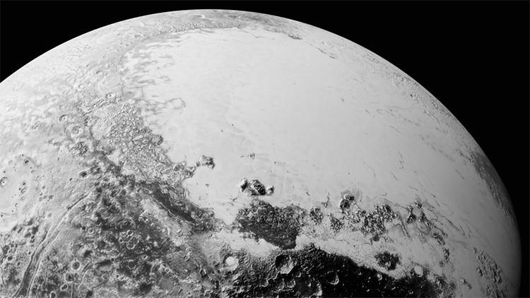 La NASA publica la imagen de un lago en Plutón