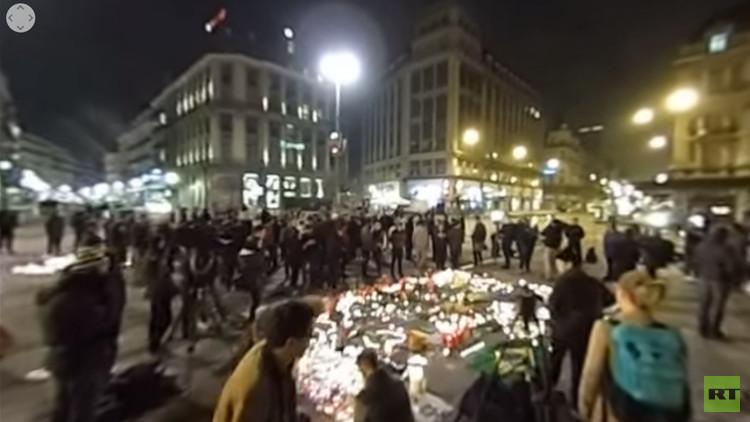 Video de 360 grados: Rinden tributo a las víctimas de los atentados en Bruselas
