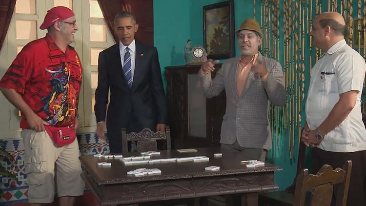"""""""Te dije que nos veríamos en La Habana"""": Pánfilo enseña a Obama a jugar al dominó"""