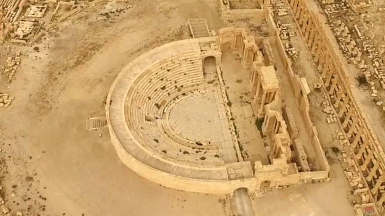 Lo que queda de Palmira: un vídeo único muestra la ciudad siria devastada por los yihadistas