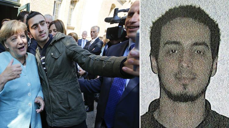 Debate en la Red: ¿Se hizo Merkel un selfie con uno de los terroristas suicidas de Bruselas?