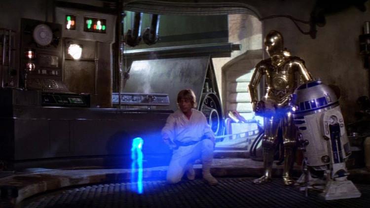 'De otra galaxia': Microsoft estrena la comunicación por hologramas de 'Star Wars' (Video)