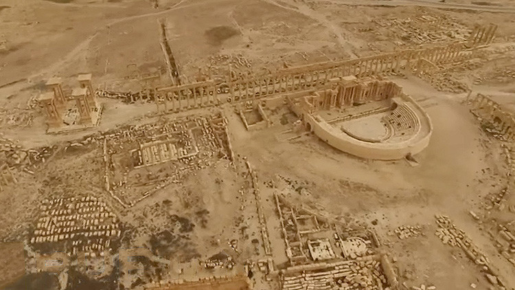 Video: El patrimonio histórico de Palmira, a vista de dron tras la derrota del Estado Islámico