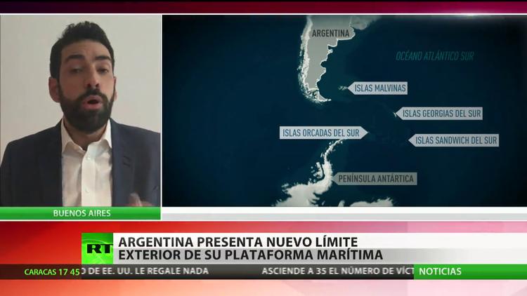 Argentina amplía su plataforma marítima un 35%