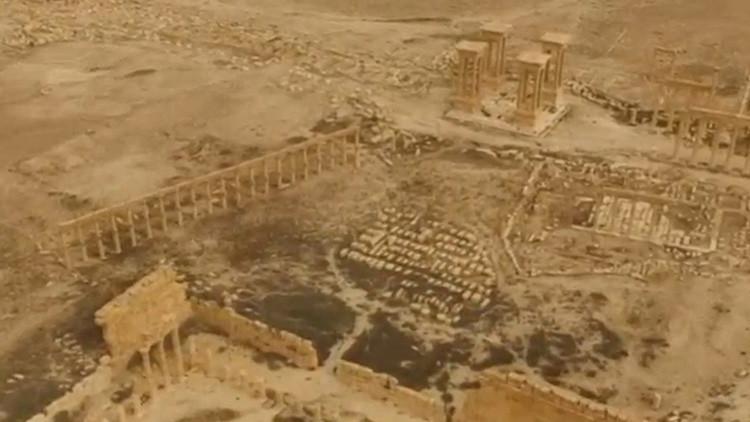 Una vista aérea de la histórica ciudad de Palmira