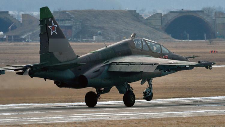 Video: Un avión Su-25 de la Fuerza Aérea rusa se estrella en el este de Rusia