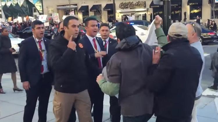 Videos: Guardaespaldas de Erdogan se enfrentan torpemente a una protesta en EE.UU.