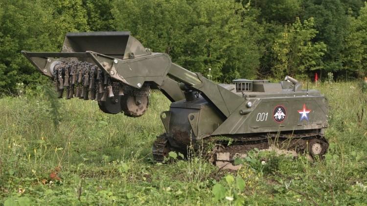 Este es el robot ruso que desactivará las minas del Estado Islámico en Palmira (Video)