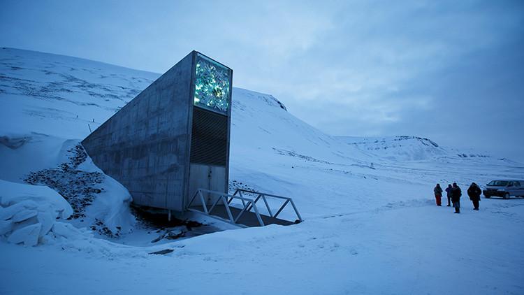 La entrada a la Bóveda Global de Semillas de Svalbard.