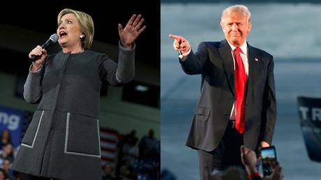 Los precandidatos presidenciales Hillary Clinton y Donald Trump