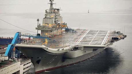 El primer portaaviones de la Armada de China, Liaoning
