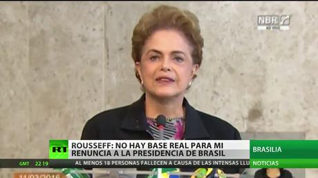 """Dilma Rousseff: """"No hay ninguna base real para que deje mi puesto"""""""