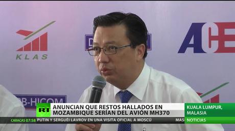 """Anuncian que los restos hallados en Mozambique son """"casi seguro"""" del MH370"""