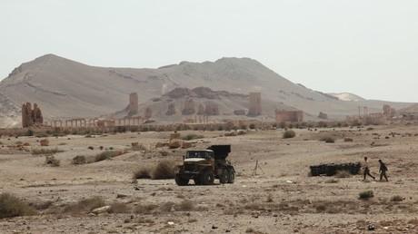 Los alrededores de la histórica ciudad siria de Palmira