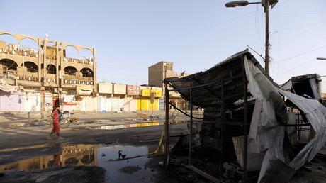 Imagen ilustrativa / Lugar de la explosión de un coche bomba en un mercado de Bagdad, que acabó con la vida de 20 personas el 23 de julio de 2015