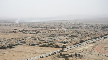 La zona central de la ciudad siria de Palmira.