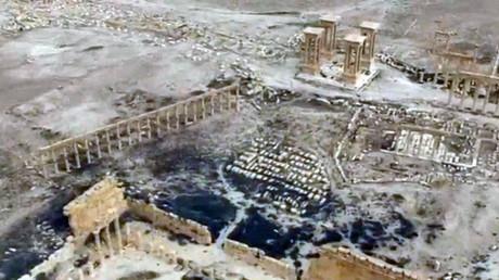 Una vista aérea de la ciudad de Palmira
